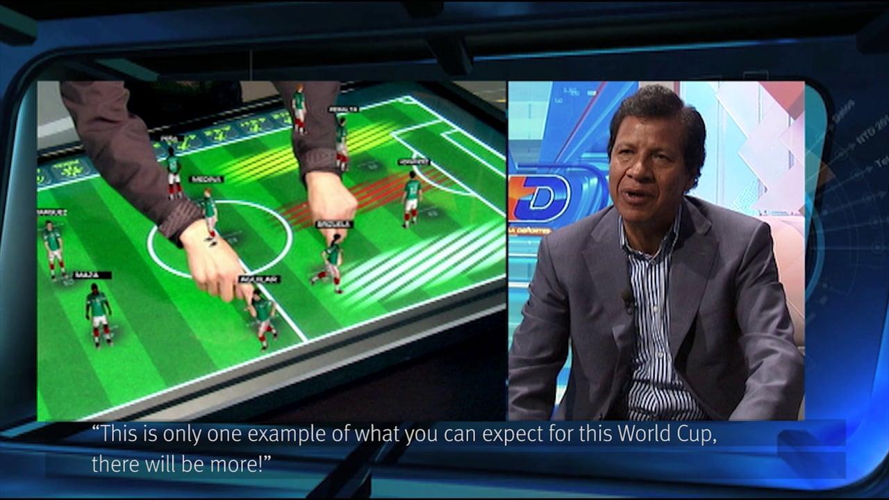הדגמה של AR במהלך משחק כדורגל
