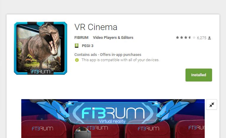 אפליקציית (VR) מציאות מדומה vr cinema