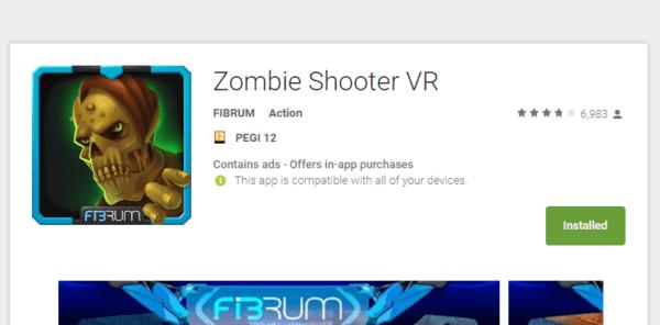 אפליקציית (VR) מציאות מדומה zombie shooter vr