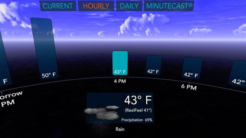 תחזית מזג אוויר במציאות מדומה ACUUWEATHER