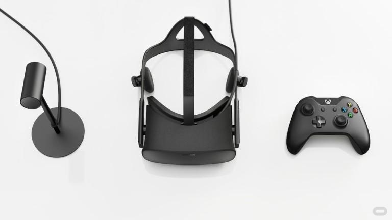 החלקים של ערכת ה VR של אוקולוס