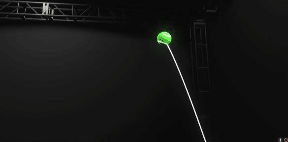תנועת כדור אמיתי בתוך מציאות מדומה