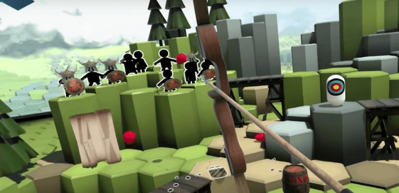 משחק חץ וקשת במציאות מדומה